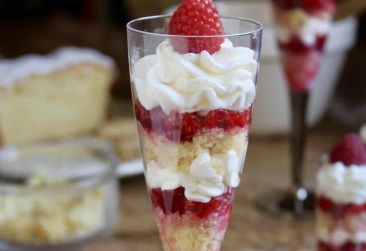 Individual Lemon Raspberry Trifles
