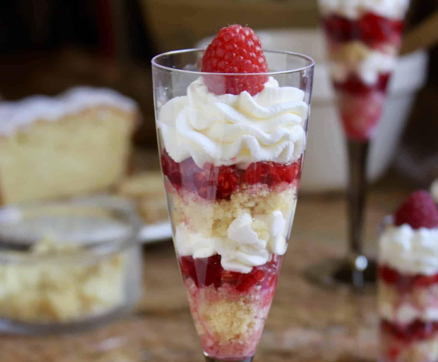 Individual lemon raspberry trifles trifle recipe whipped cream limoncello