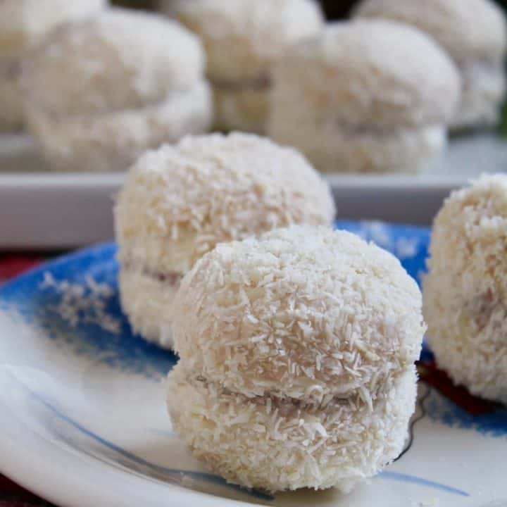 Scottish Snowballs sandwich biscuit recipe