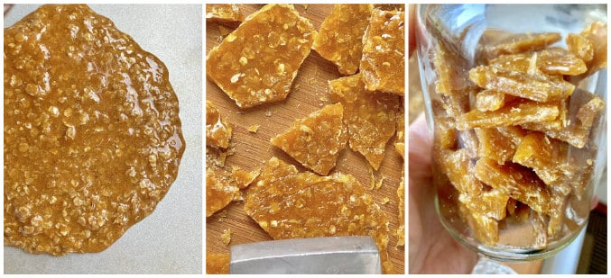 oat brittle collage