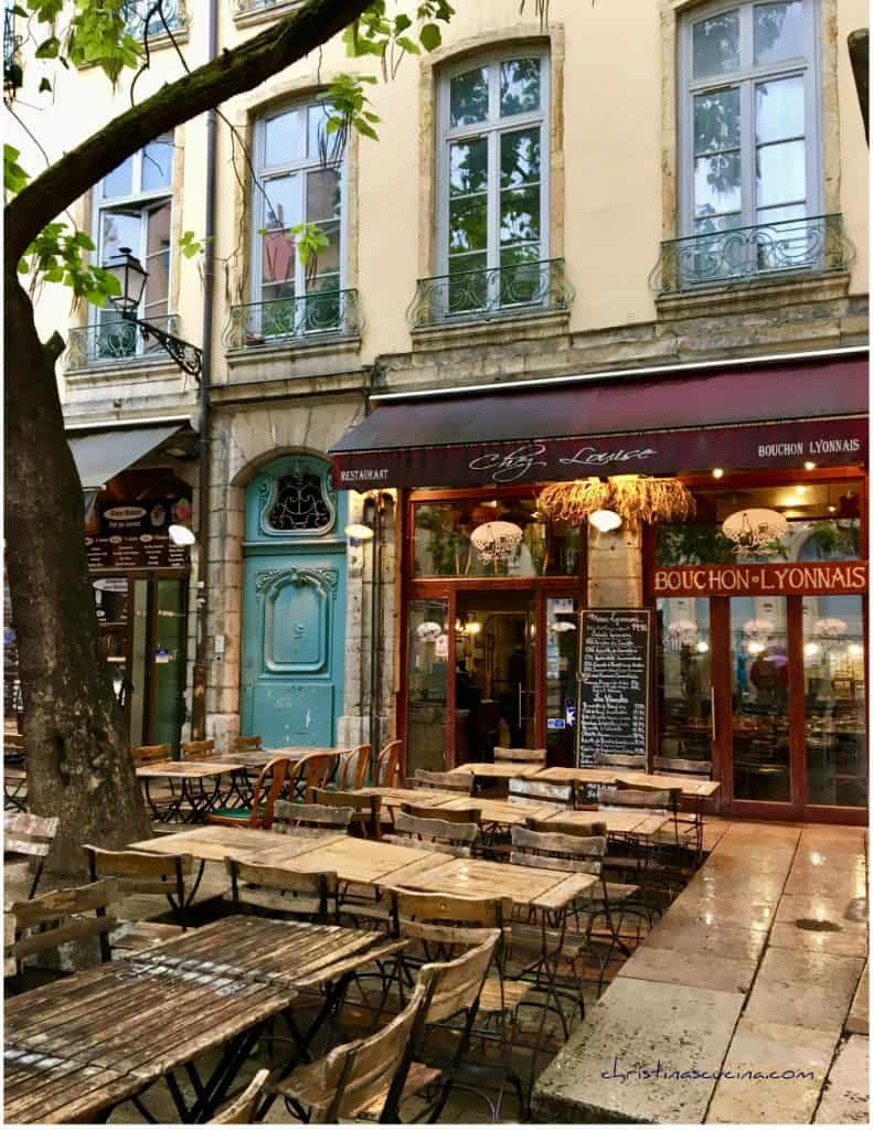 Bouchon in Lyon in the Rain Christinascucina.com