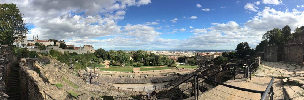 Lyon, panorama of Roman amphitheatre