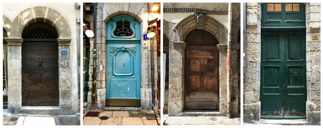 Doors of Lyon France Traboules