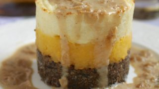 Haggis, Neeps and Tatties Stack with Whisky Sauce for Burns Night (Haggis with Turnips and Potatoes)