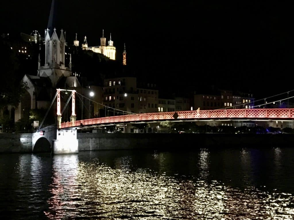 Visit Lyon, Saone at night