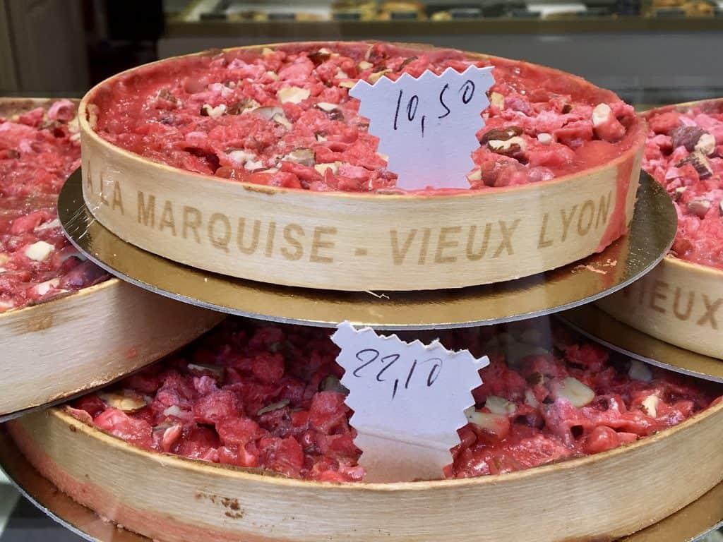 Praline tart in Lyon