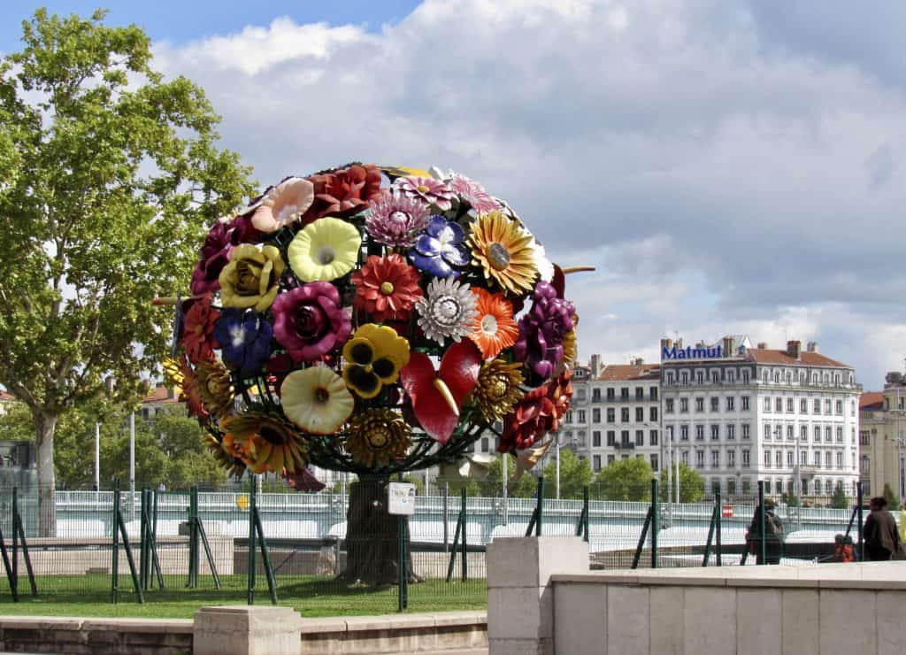 Flower ball in Lyon