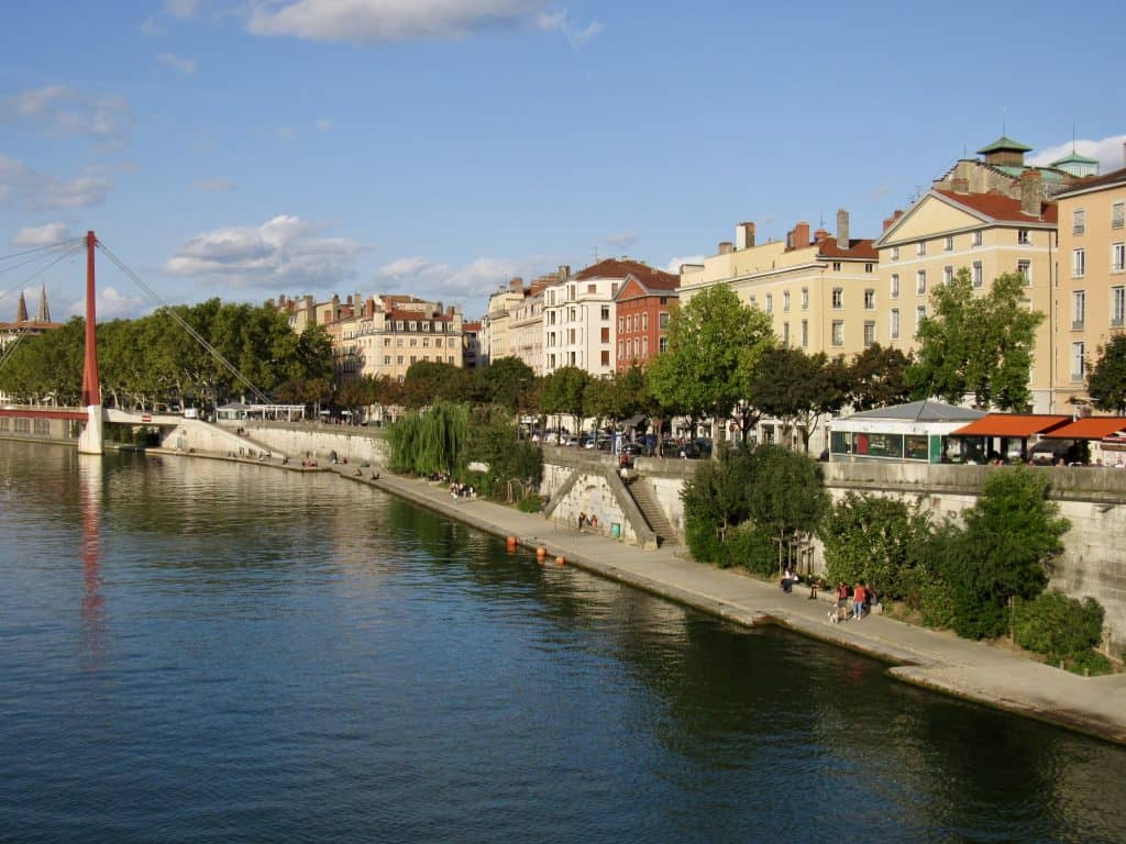 City of Lyon, Saone River