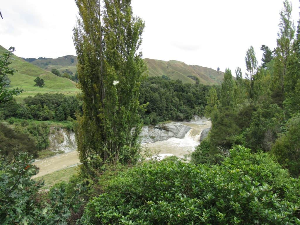 Waterfall by the road, New Zealand