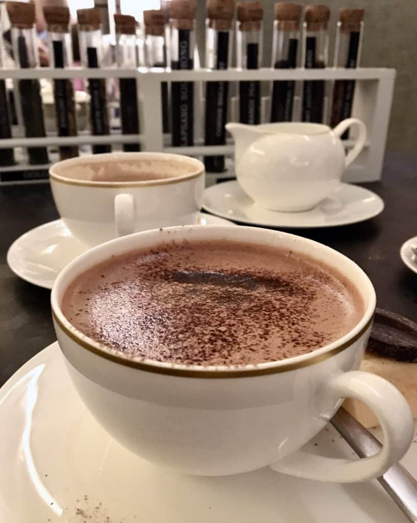 Cordis hotel in Auckland cup of hot cocoa