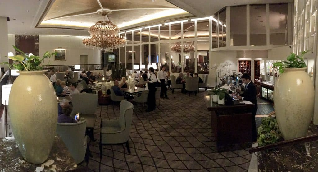 Lobby Lounge at the Cordis Hotel in Auckland