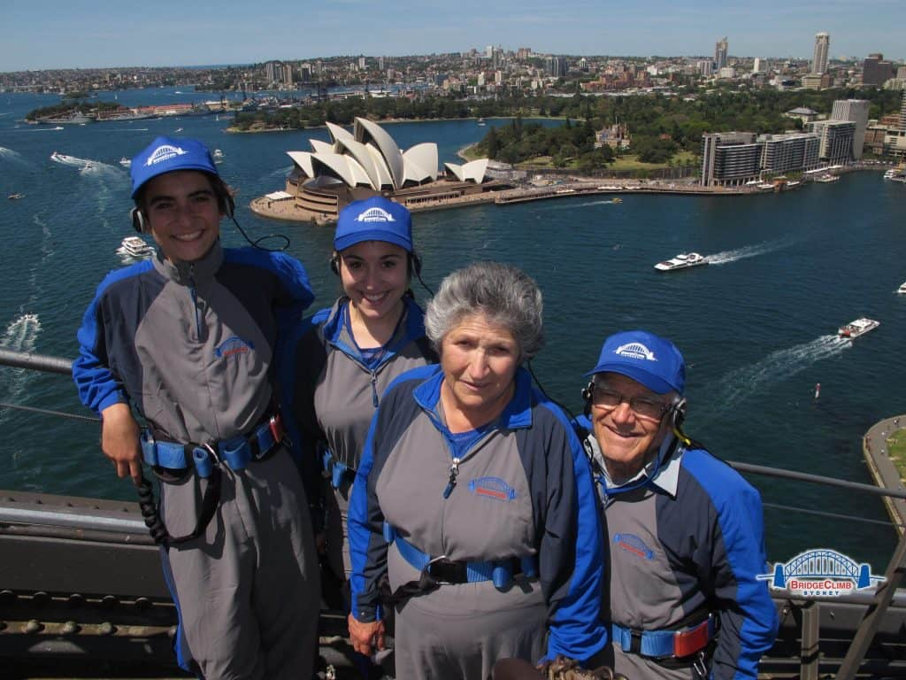 The Risi Family on the Sydney Harbour Bridge