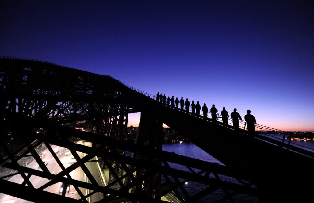 Dawn Sydney Harbour Bridge Climb
