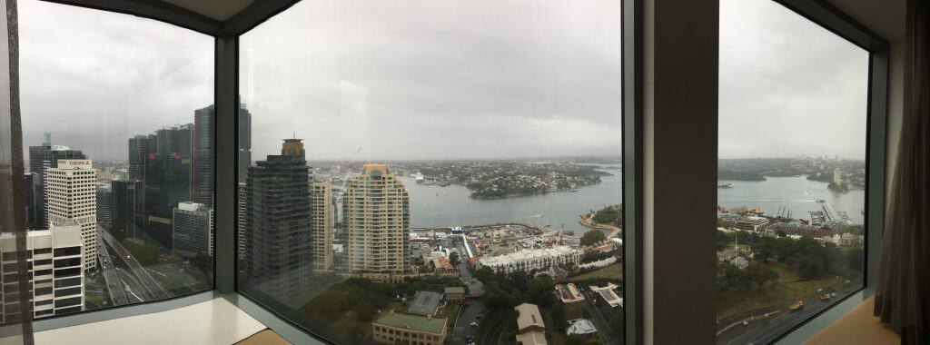 View of Darling Harbour from Horizon Suite Shangri-La Hotel Sydney