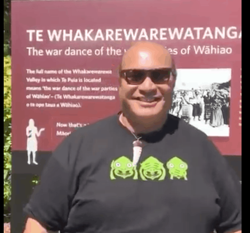 Sean at Te Puia