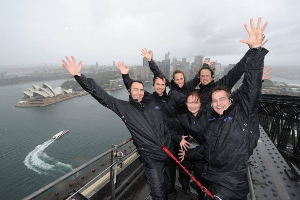 Wet weather Sydney Harbour Bridge CLimb