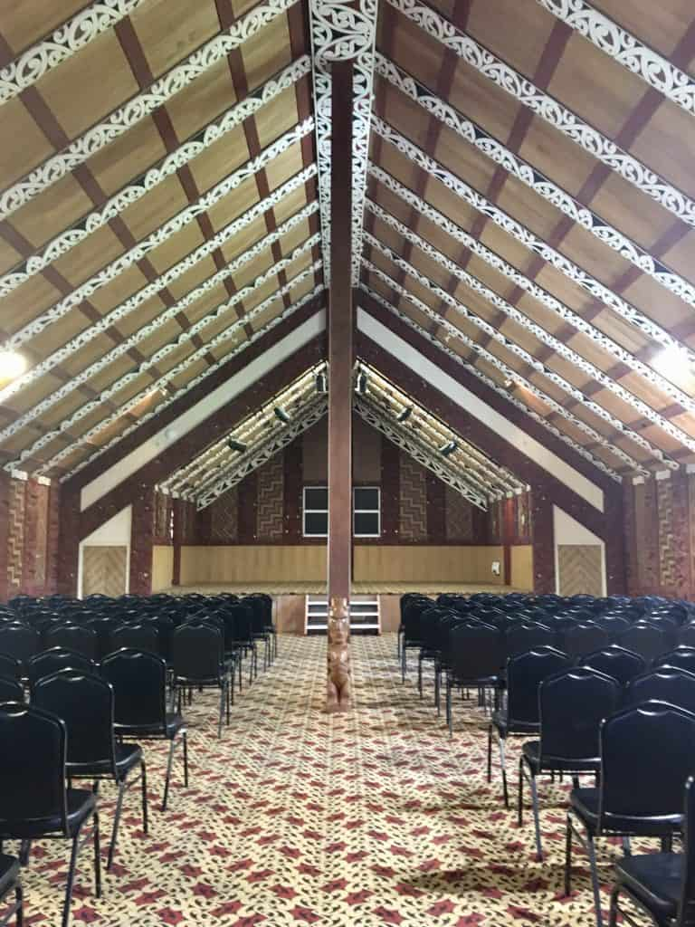 Te Puia carved meeting house