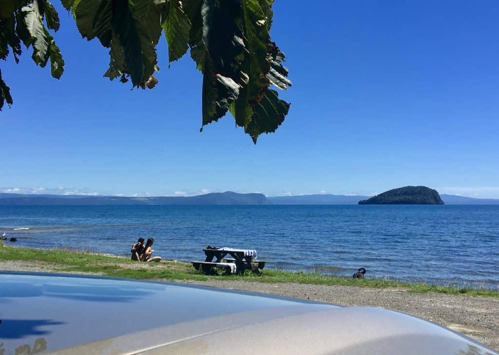 Lake Tuapo view New Zealand