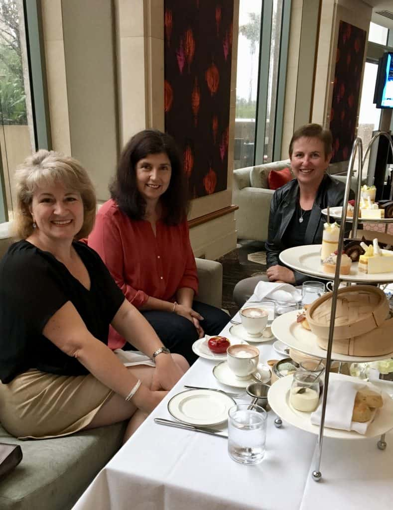 Ladies at afternoon tea Shangri-La Hotel in Sydney
