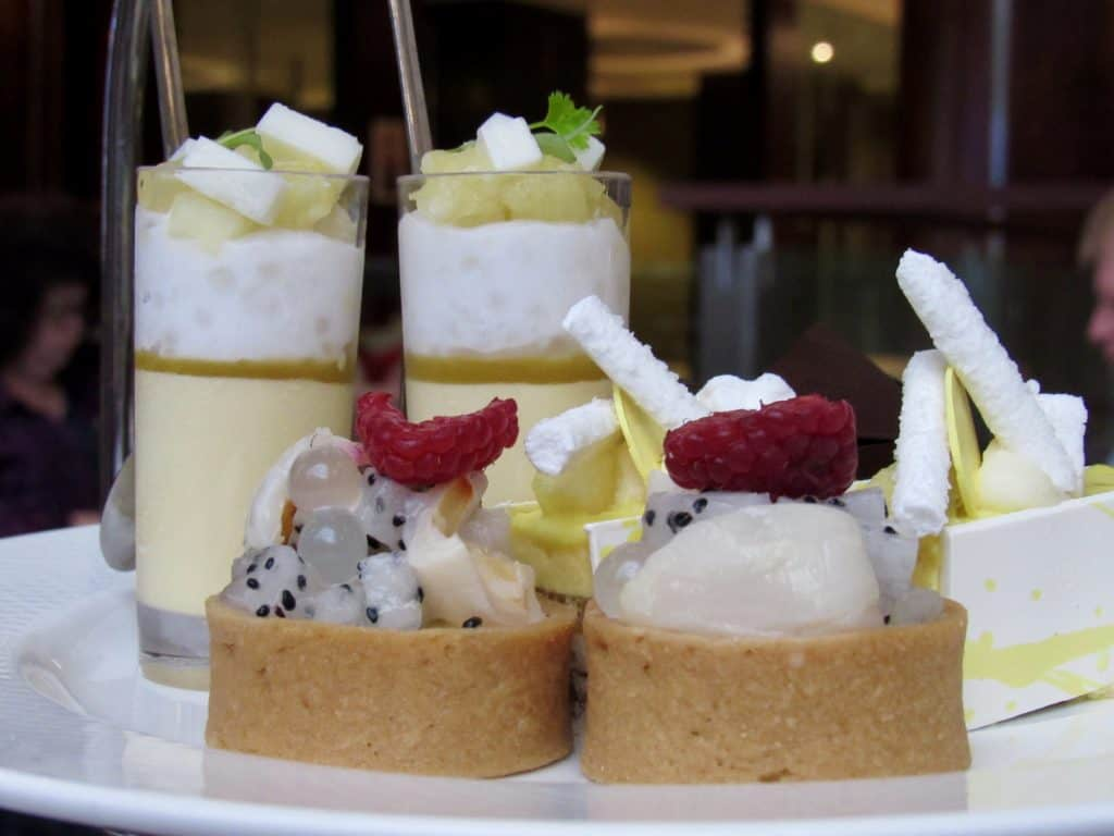 Sweet treats for afternoon tea at Shangri-La Hotel in Sydney