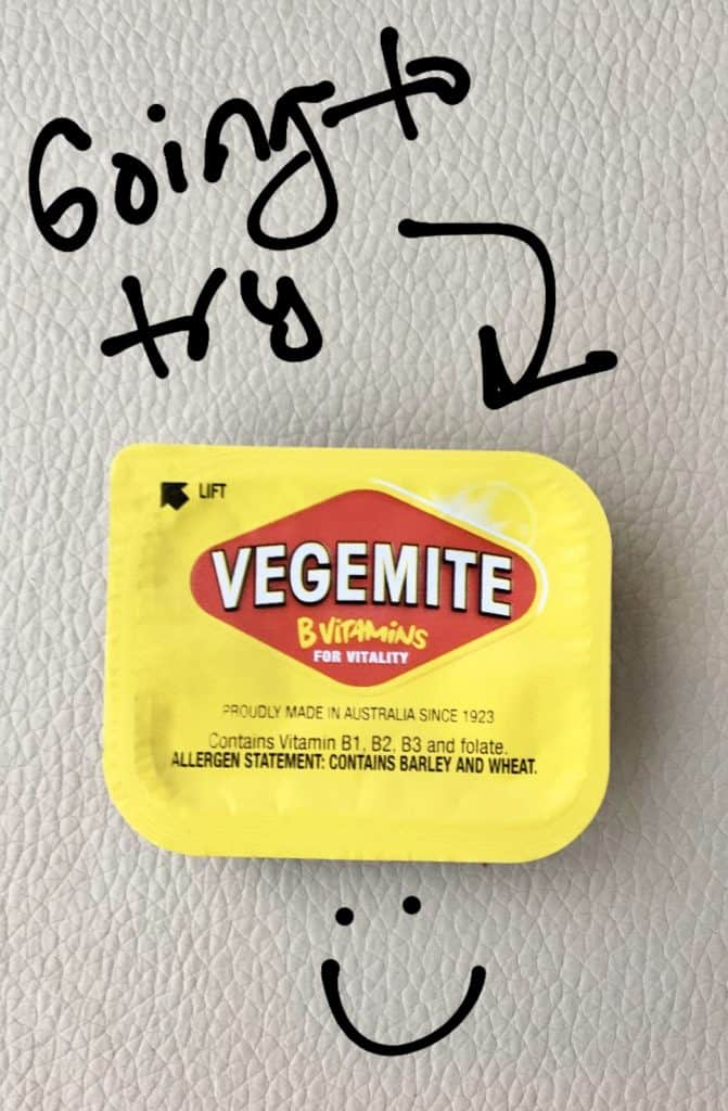 Trying vegemite in Australia