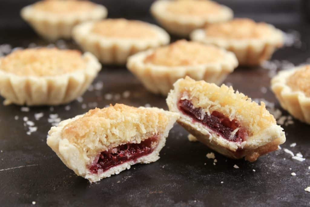 Coconut and jam tarts coconut tartlets image
