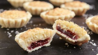 Scottish Coconut and Raspberry Jam Tarts (Coconut Tartlets)