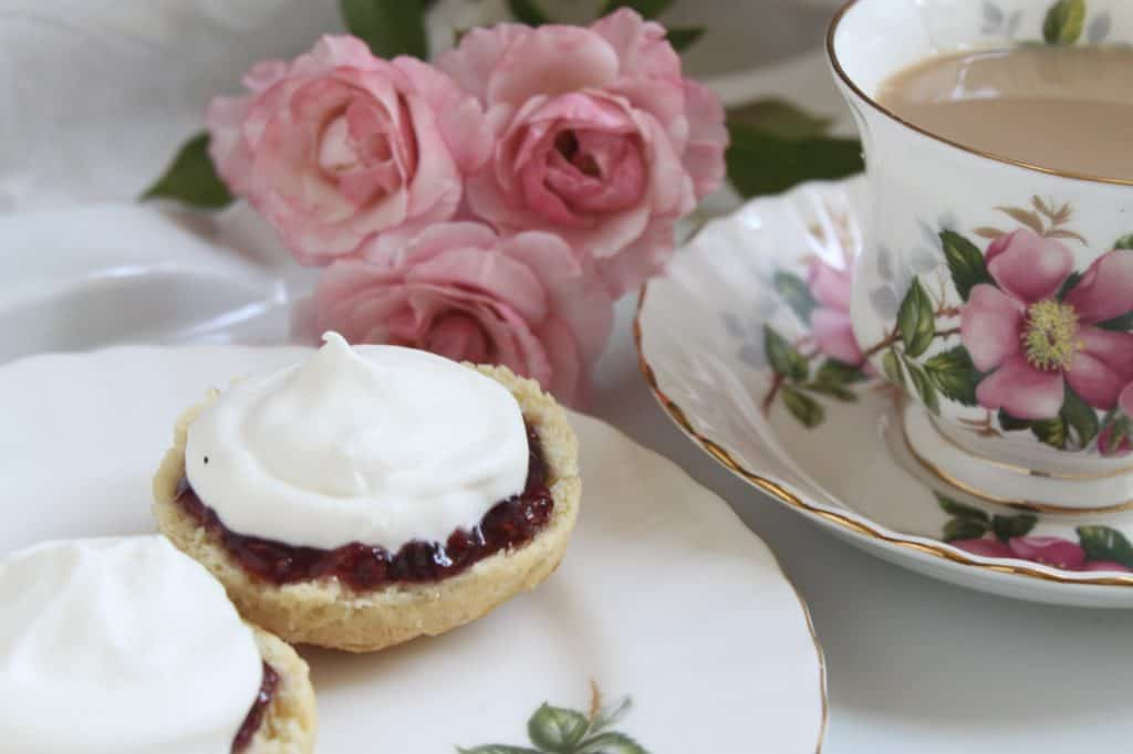 afternoon tea scones with jam and cream
