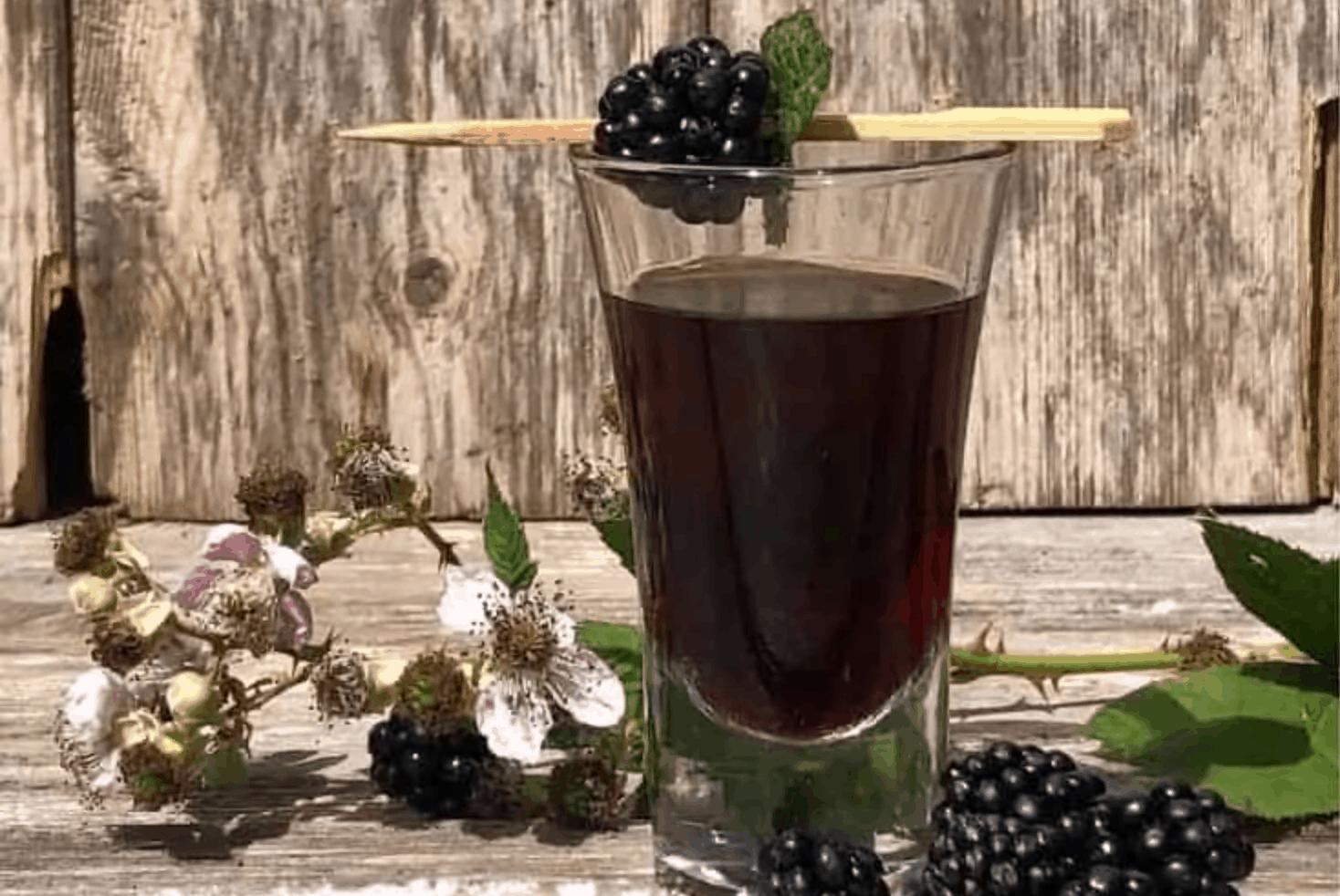 blackberry vodka by The Travelbunny