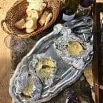 French Camembert on the Barbecue (with White Wine) and Vis Ma Vigne
