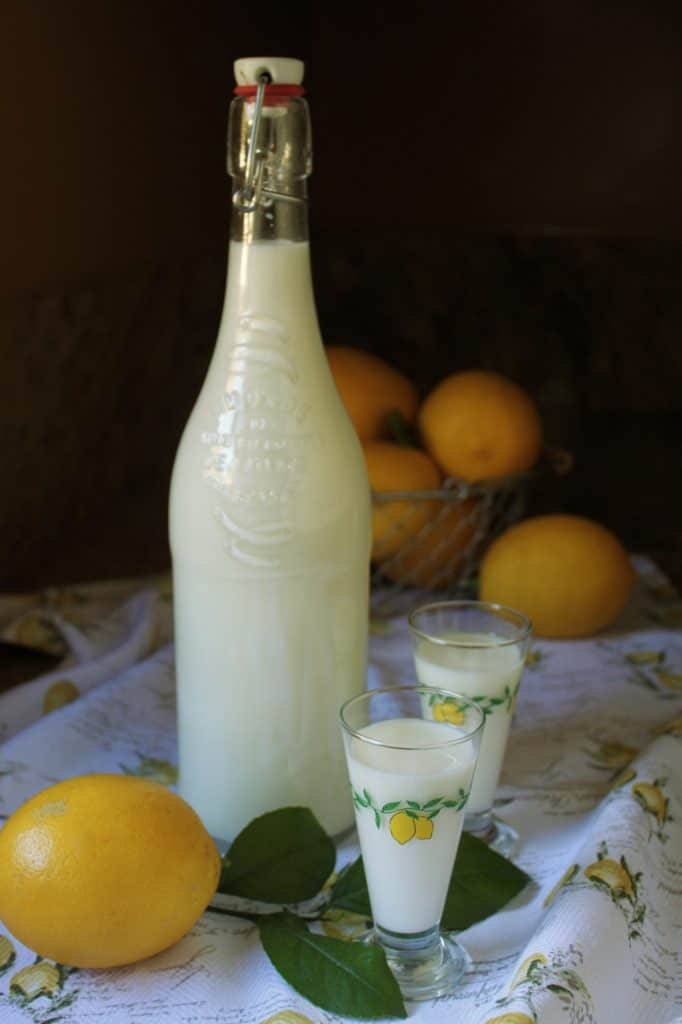 easy limoncello recipe crema di limoncello in bottle