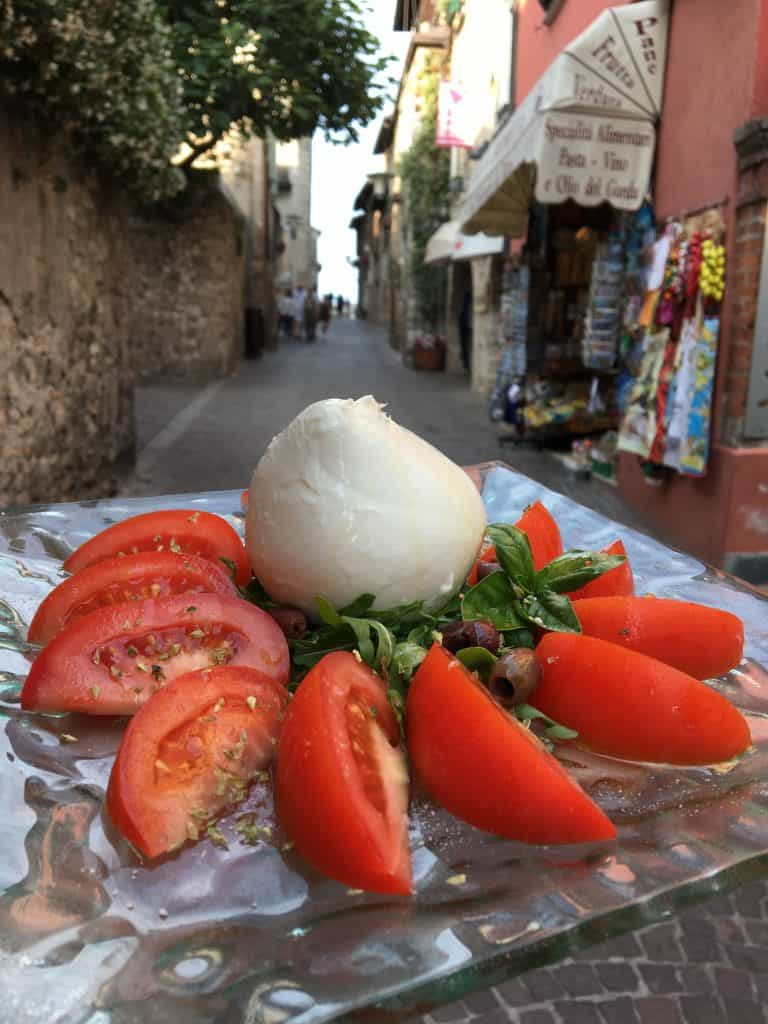 Caprese salad in Sirmione