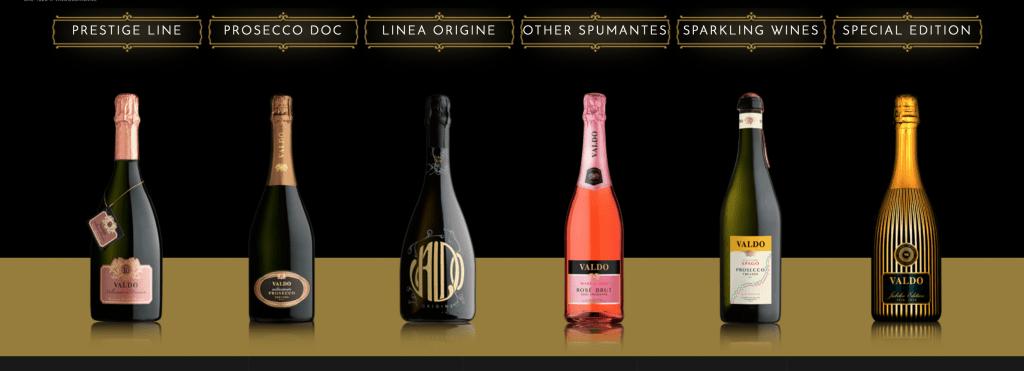 Valdo Prosecco bottles