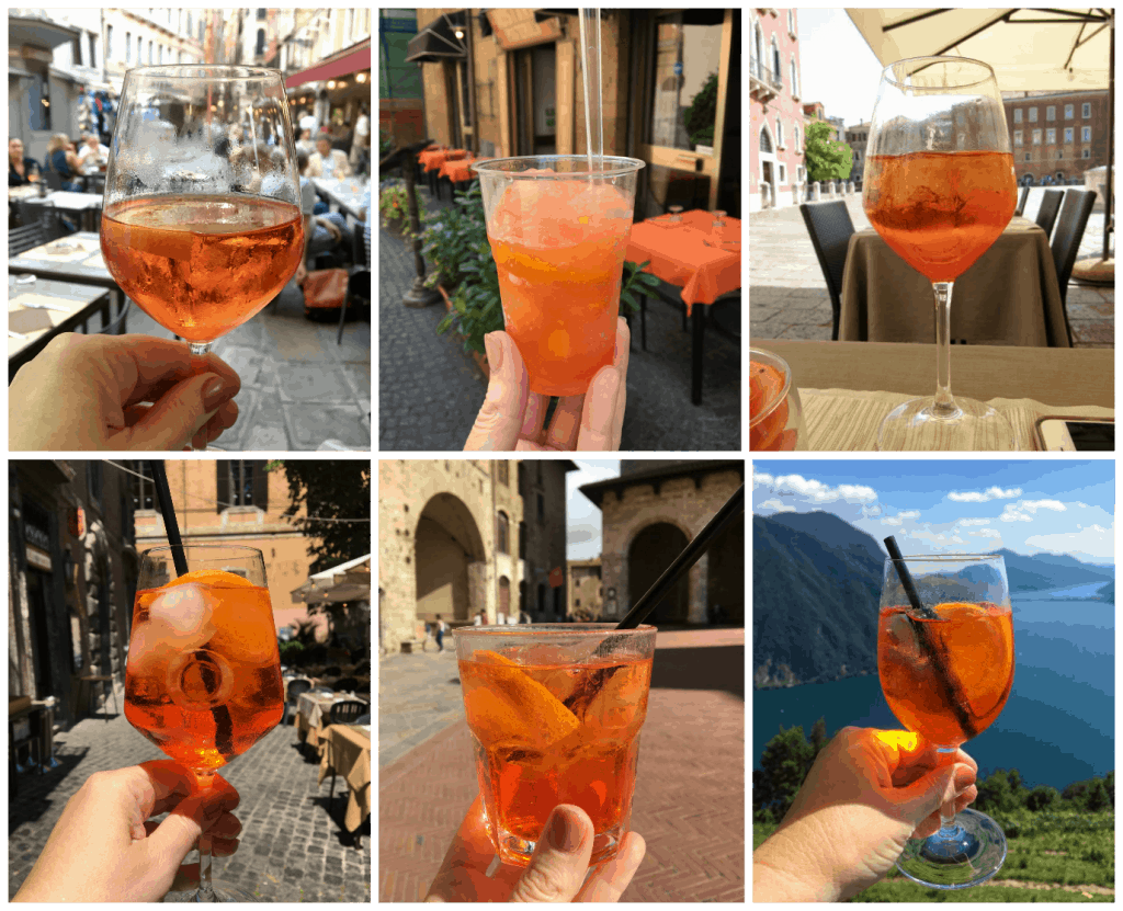 Aperol Spritz collage