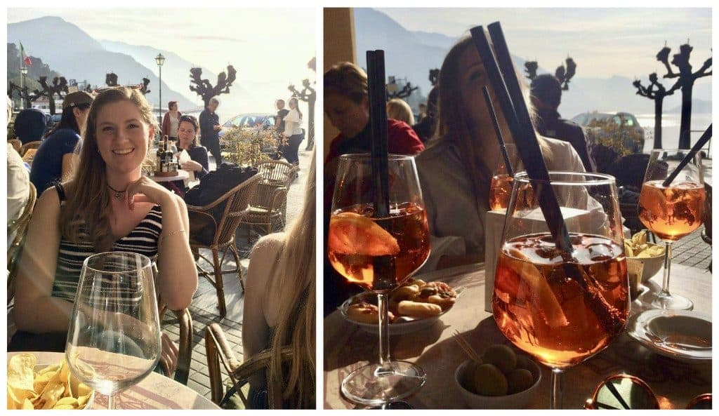 Aperol Spritzes in Bellagio
