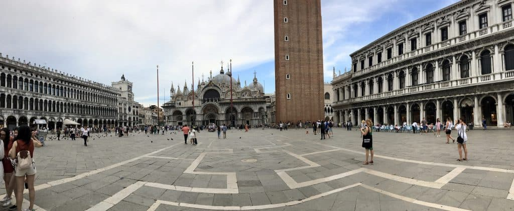 panorama of St mark's square