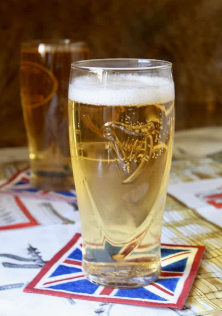 photo of a glass of proper traditional British Shandy