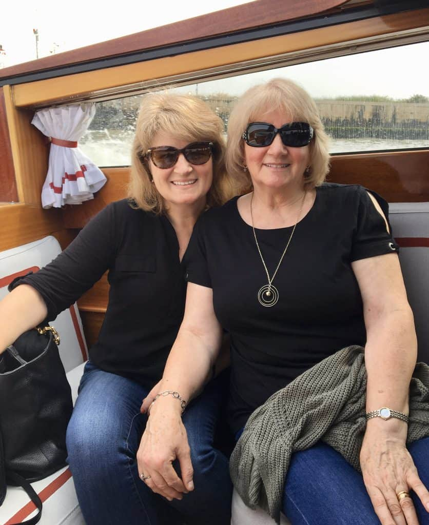 Mum and I arriving in Venice