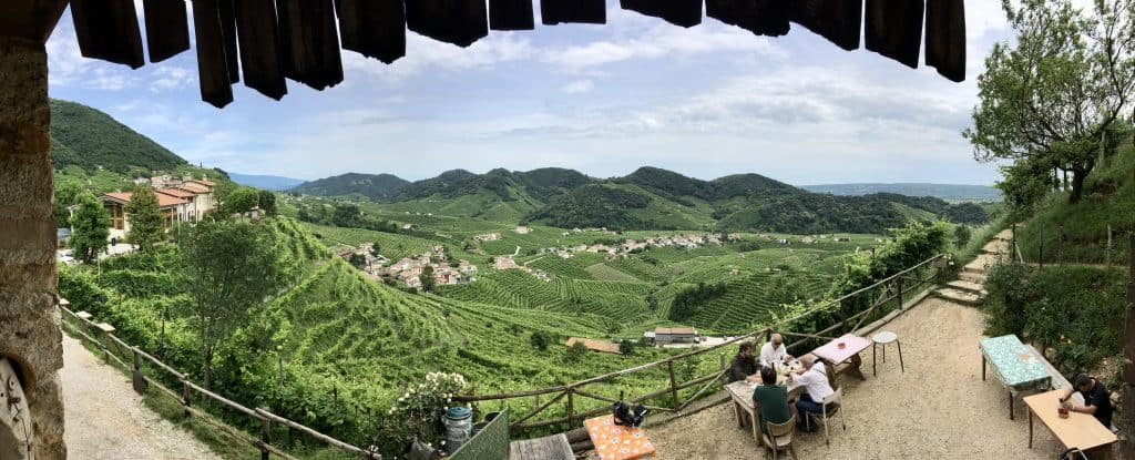 A day trip to Valdobbiadene and a View from Osteria Senz'Oste