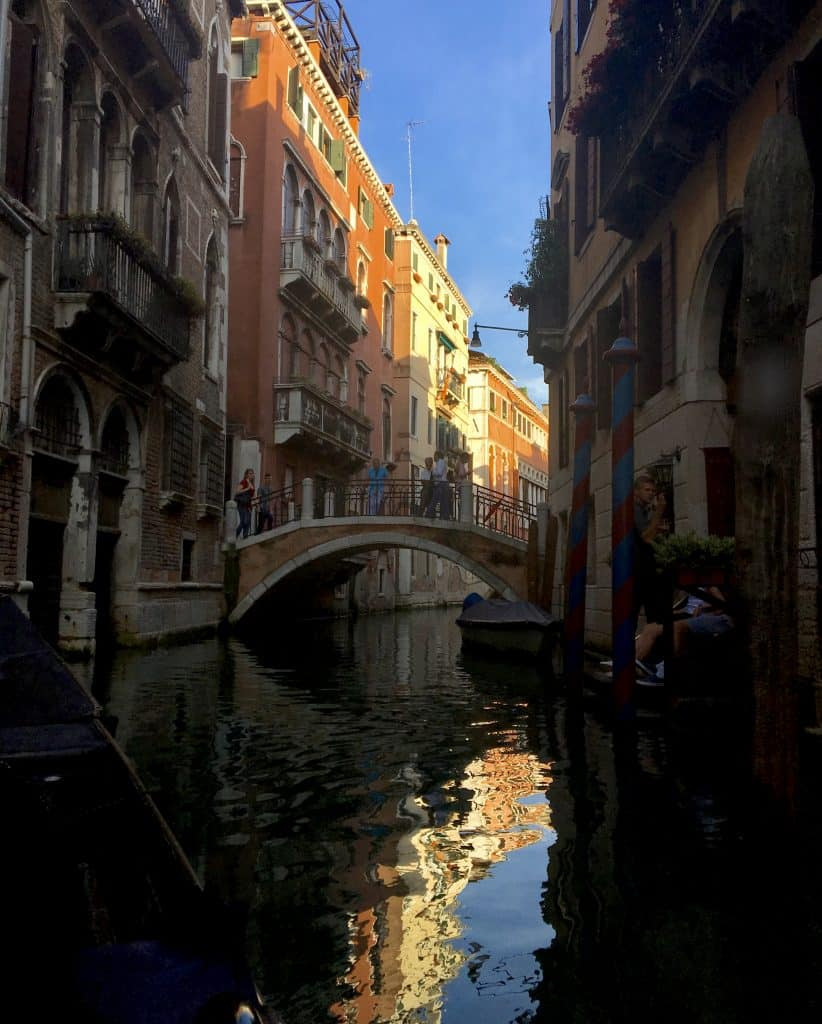 Venice canal in the late afternoon
