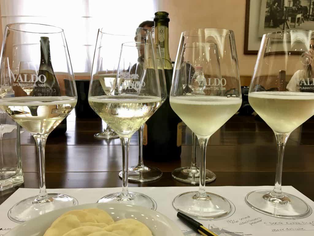 Wine tasting at Valdo