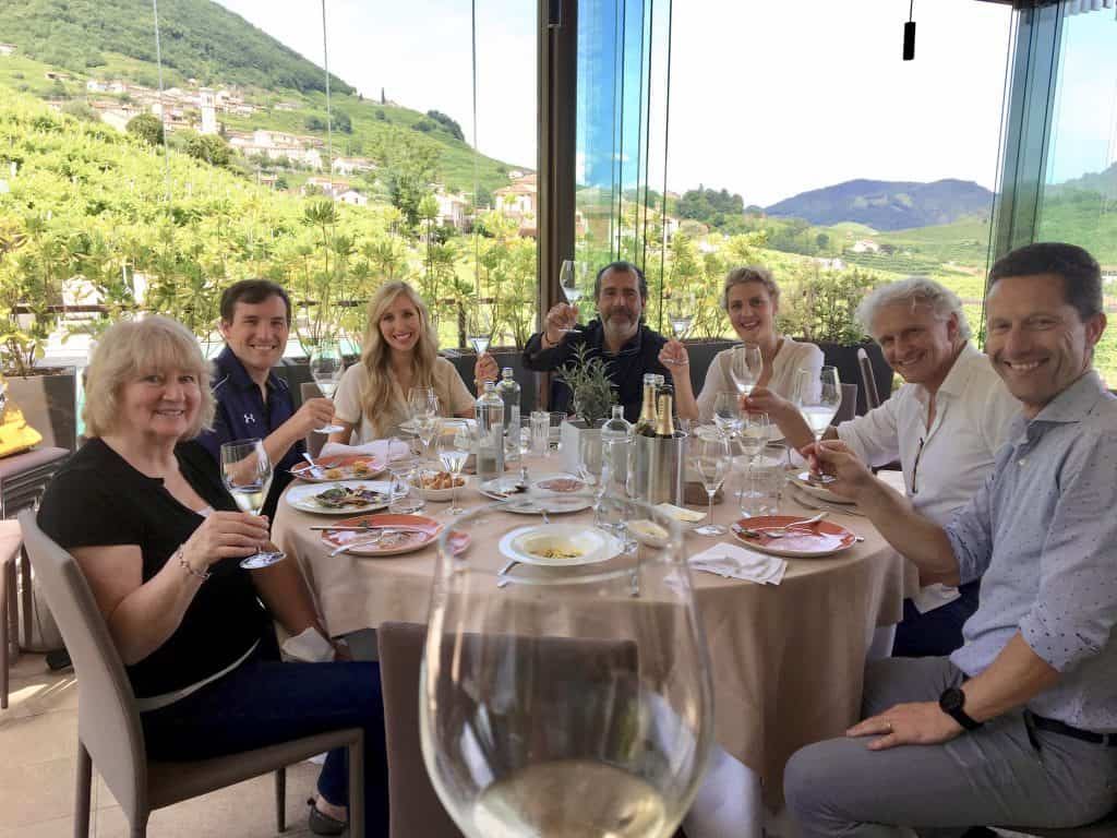 Valdobbiadene vineyards and a Valdo toast at Salis