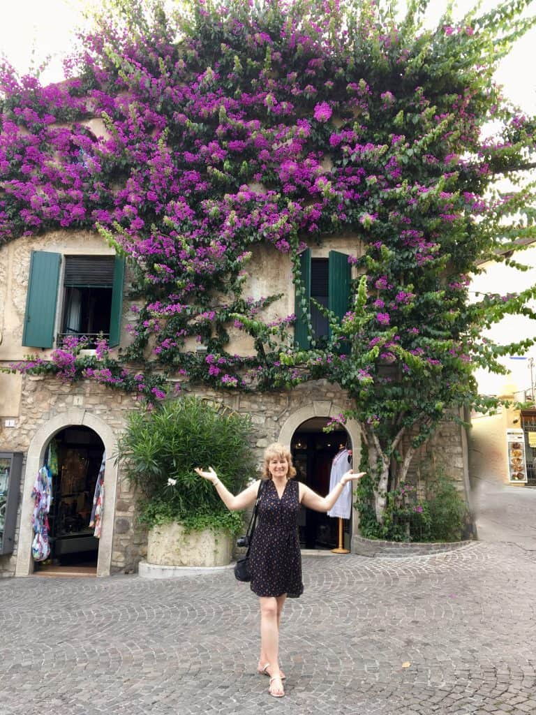Beautiful bougainvillea in Sirmione