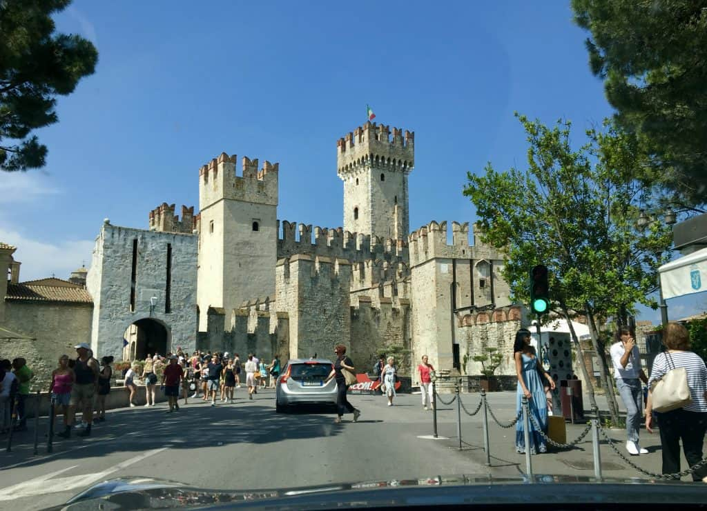Sirmione castle entrance