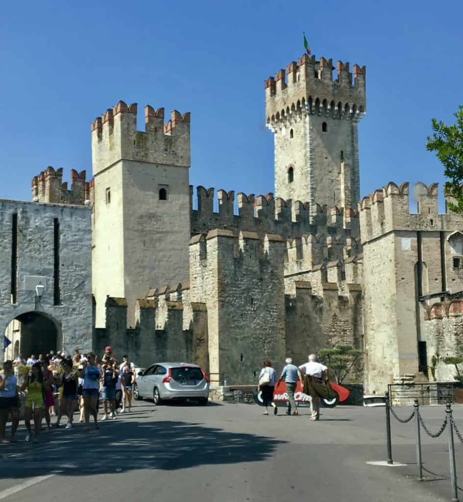 Sirmione castle entry (visiting Sirmione by car)