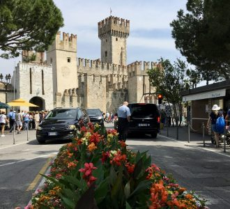Visiting Sirmione by Car and Le Grotte di Catullo Roman Ruins on Lake Garda