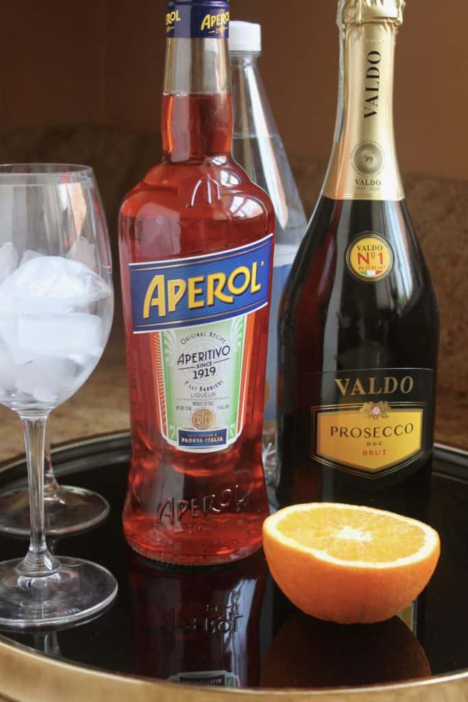Making an Aperol Spritz