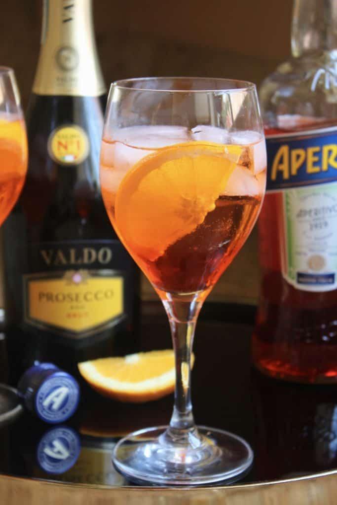 Making an Aperol Spritz