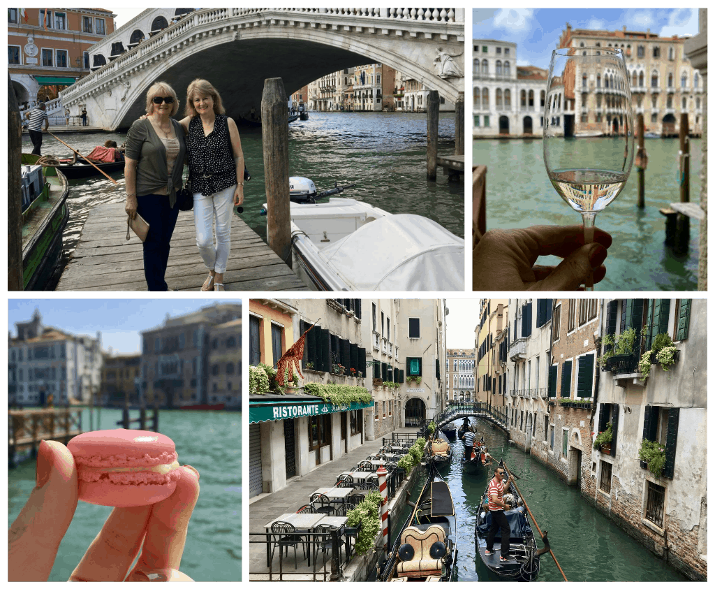 Collage of venice day one