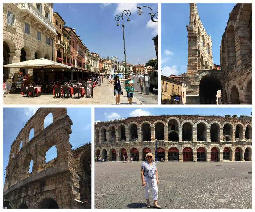Verona arena collage